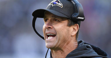 Baltimore Ravens coach John Harbaugh