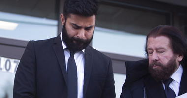 Jaskirat Singh Sidhu leaves provincial court with his lawyer Mark Brayford