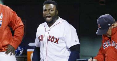 Boston Red Sox designated hitter David Ortiz e