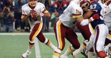 Washington Redskins quarterback Mark Rypien