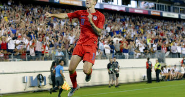 United States midfielder Christian Pulisic celebrates after scoring a goal against Jamaica during the second half of a CONCACAF Gold Cup semifinal soccer match Wednesday, July 3, 2019, in Nashville, Tenn. The United States won 3-1. (