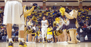"""This image released by The WorkShop shows a scene from """"Basketball or Nothing,"""" a new docuseries that examines the hoops dreams of a rural, Arizona town in the heart of the Navajo Nation. The six-episode series debuts Friday on Netflix."""
