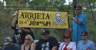 Jake Arrieta made fun of by Pirates fans