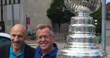 Bruno and Larry Richert with Stanley Cup