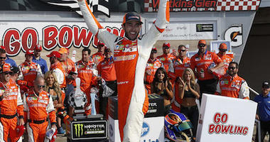 Chase Elliott Celebrates Atop The No. 9 Sun Energy Chevrolet