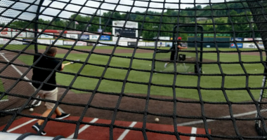 Chris Mueller Taking Batting Practice With The Washington Wild Things