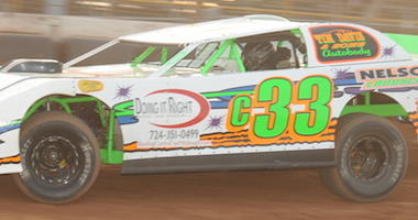 Corey McPherson in the No. c33 Pro Stock at Lernerville Speedway