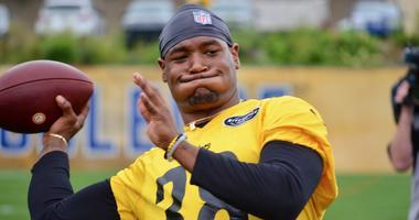 Steelers S Kam Kelly at practice in 2019