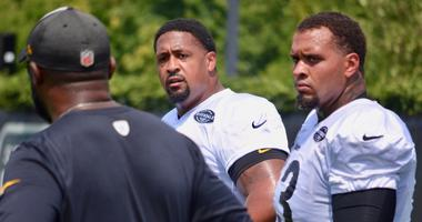 Steelers LG Ramon Foster during practice in 2018