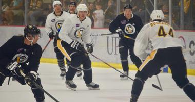 Penguins center Evgeni Malkin at training camp in 2019