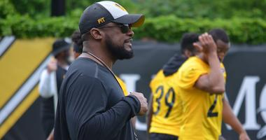 Steelers coach Mike Tomlin during the team's OTA session in June