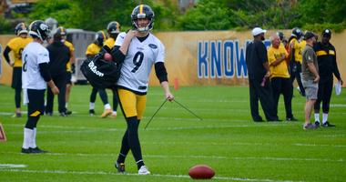 Steelers kicker Chris Boswell at OTA in 2019