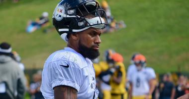 Steelers WR Donte Moncrief at training camp in 2019