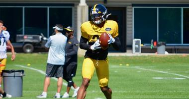 Steelers safety Minkah Fitzpatrick at practice in 2019