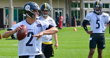 Steelers QB Mason Rudolph at OTAs in 2019