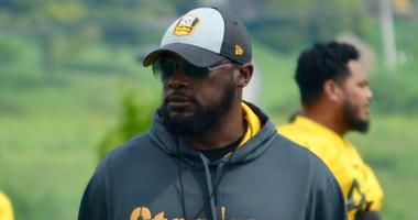 Steelers coach Mike Tomlin in 2018 training camp
