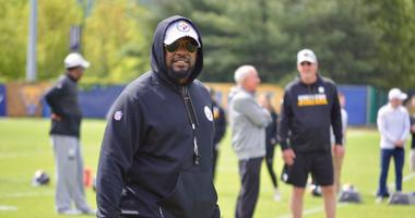 Steelers coach Mike Tomlin at OTAs in 2019