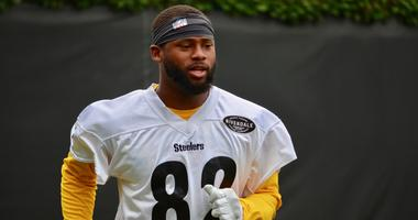 Steelers WR Diontae Spencer at practice in 2019