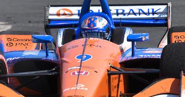 PNC Bank Chip Ganassi Racing's Scott Dixon Nails The Apex At Turn 3 At The Honda Indy Toronto