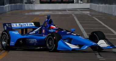 Felix Rosenqvist Takes The No. 10 NTT Data Honda Around The Firestone Grand Prix Of St. Petersburg