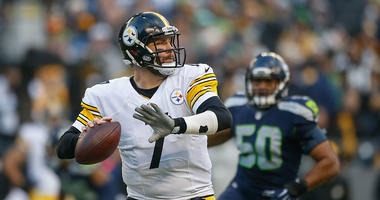 Ben Roethlisberger #7 of the Pittsburgh Steelers passes against the Seattle Seahawks