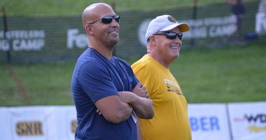 James Franklin at Steelers camp