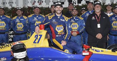 Alexander Rossi And The NAPA Andretti Autosport Crew Win ABC Supply 500 At Pocono