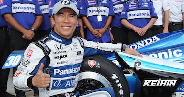 Rahal Letterman Lanigan Racing's Takuma Sato Celebrates Winning The NTT P1 Pole Award For Saturday Night's NTT IndyCar Series Race At Texas Motor Speedway