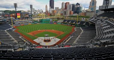 A view of the stadium prior to the game of the Miami Marlins against the Pittsburgh Pirates at PNC Park.