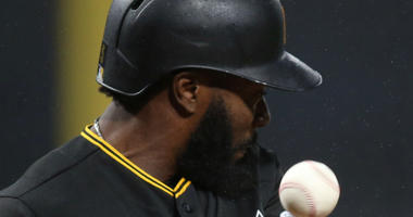 Josh Harrison Gets Hit By A Pitch