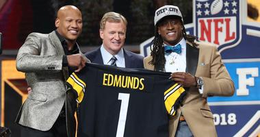 Ryan Shazier with Terrell Edmunds and Roger Goodell