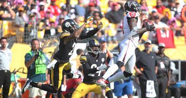 Steelers secondary vs. Atlanta