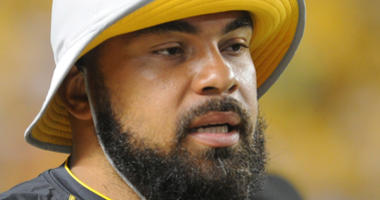 Pittsburgh Steelers defensive tackle Cameron Heyward (97) on the sidelines against the Carolina Panthers in the fourth quarter at Heinz Field.