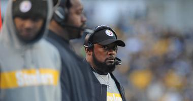Pittsburgh Steelers head coach Mike Tomlin watches his team play the Cincinnati Bengals at Heinz Field.