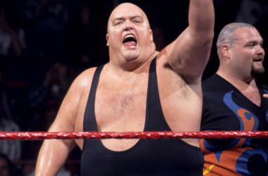 King Kong Bundy performs in the ring for WWF.