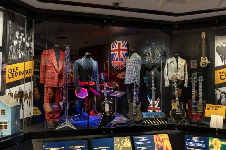 Def Leppard display at the Rock & Roll Hall of Fame