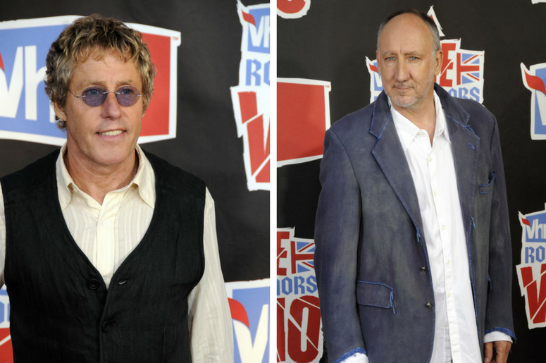 Roger Daltrey & Pete Townshend at the VH1 Rock Honors The Who at Pauley Pavilion at UCLA