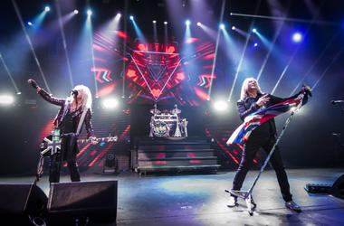 Def Leppard on stage during the Teenage Cancer Trust annual concert series, at the Royal Albert Hall, London