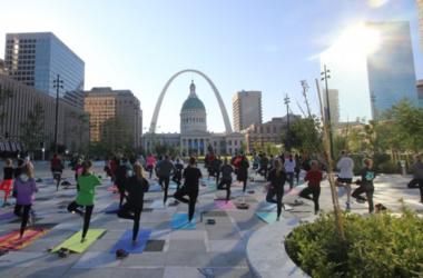 Yoga at Kiener Plaza