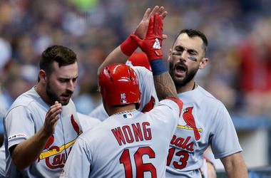 St. Louis Cardinals high five