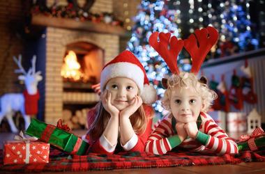 Kids at Christmas