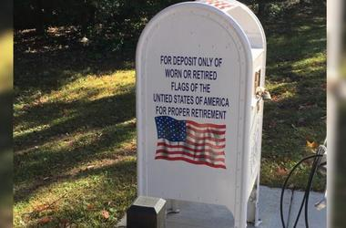 recycle American flags in mailbox