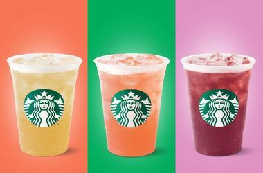 Starbucks iced tea lemonades