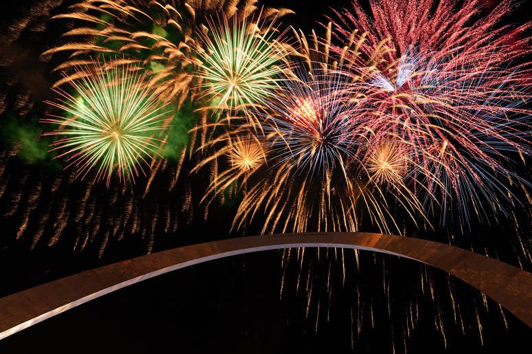 Busch Stadium Fireworks