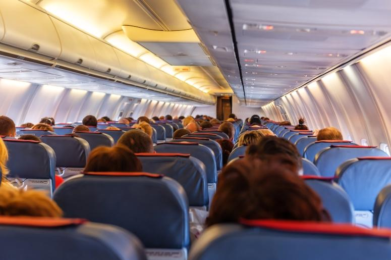 seats inside airplane