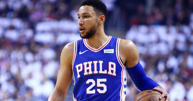 Ben Simmons with the Philadelphia 76ers