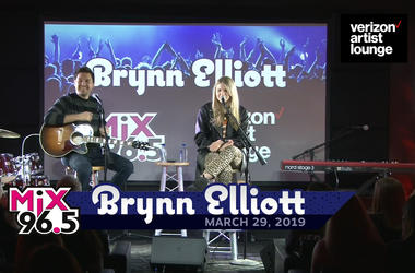 """Brynn Elliott live in the VERIZON ARTIST LOUNGE """"Time of our Lives""""   March 29, 2019"""