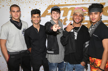 "CNCO. ""America's Got Talent"" Season 13 Live Show held at The Dolby Theatre"