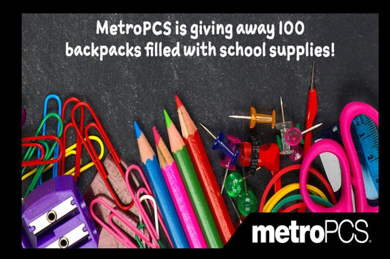 MetroPCS is giving away school supplies | Houston's Mix 96 5