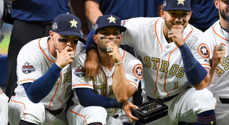 Breman, Altuve, Correa World Series Rings